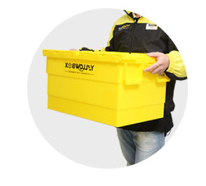 4Return - You can make a booking with our logistic team to return your boxes to you
